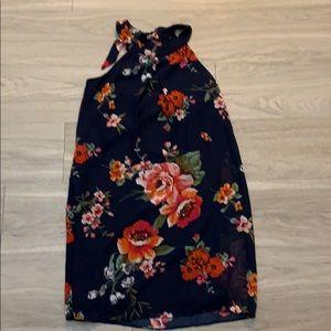 IZ Byer Floral Print Halter Dress